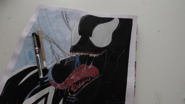 Venom Poster malen zeichnen Spiderman